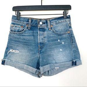 Levi's high waist cutoff Jean shorts